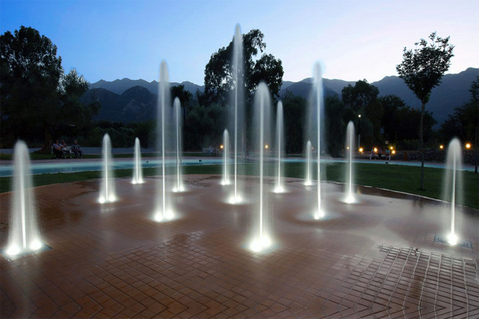 Getto per fontana da incasso a pavimento ddf fuji fountains