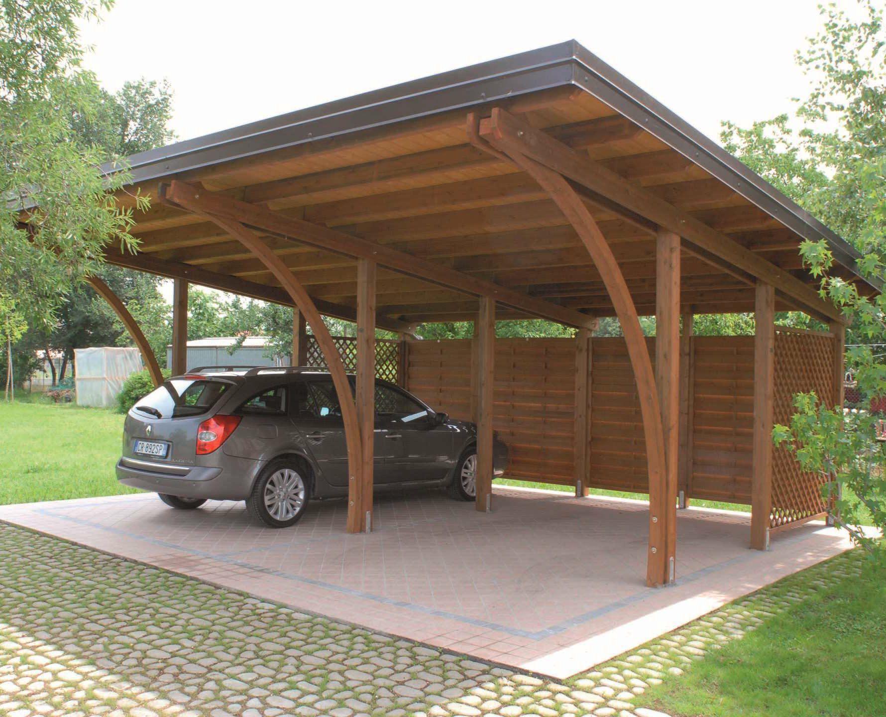 Tettoia per posto auto in legno pircher