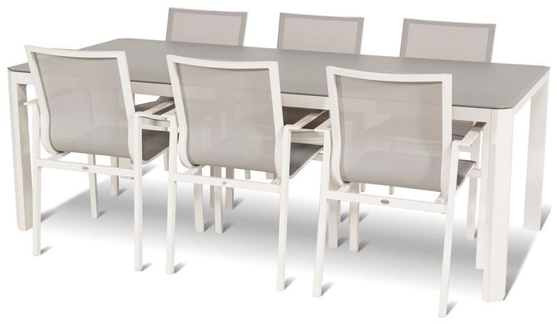 Tavoli E Sedie Da Esterno In Alluminio.Set Tavolo E Sedia Moderno In Alluminio Da Giardino Per Uso