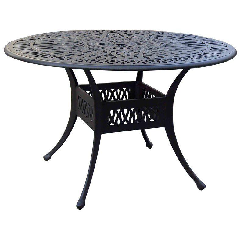 Tavoli Da Giardino In Ghisa.Tavolo Da Pranzo Moderno In Ghisa Di Alluminio Tondo Da