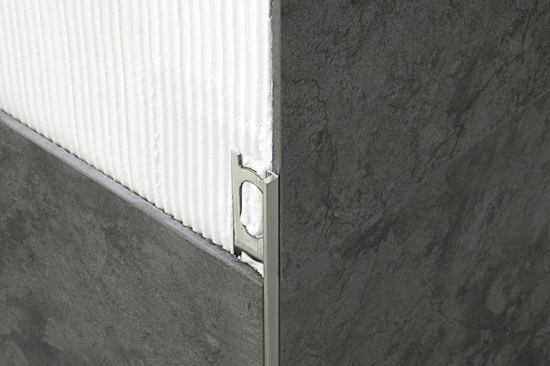 Profilo di finitura per angolo esterno in ottone in alluminio