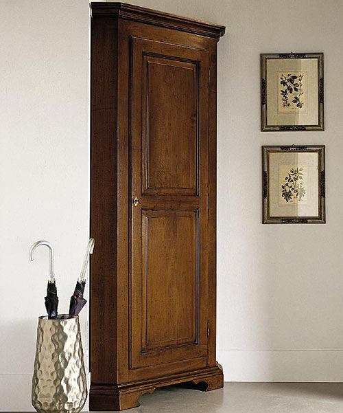 Armadio ad angolo / classico / in legno / con ante battenti - 555 ...