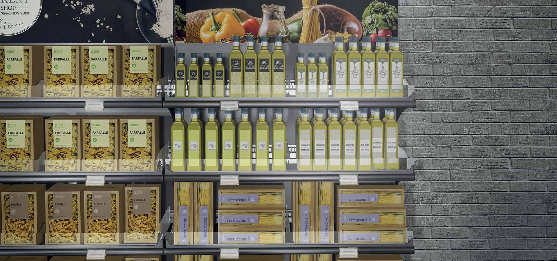 Espositore per prodotti alimentari / in metallo / per negozio - M18 ...