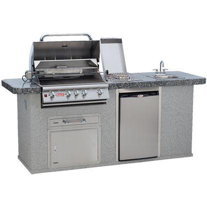 Cucina da esterno / moderna / in acciaio inox / con isola - BULL EUROPE