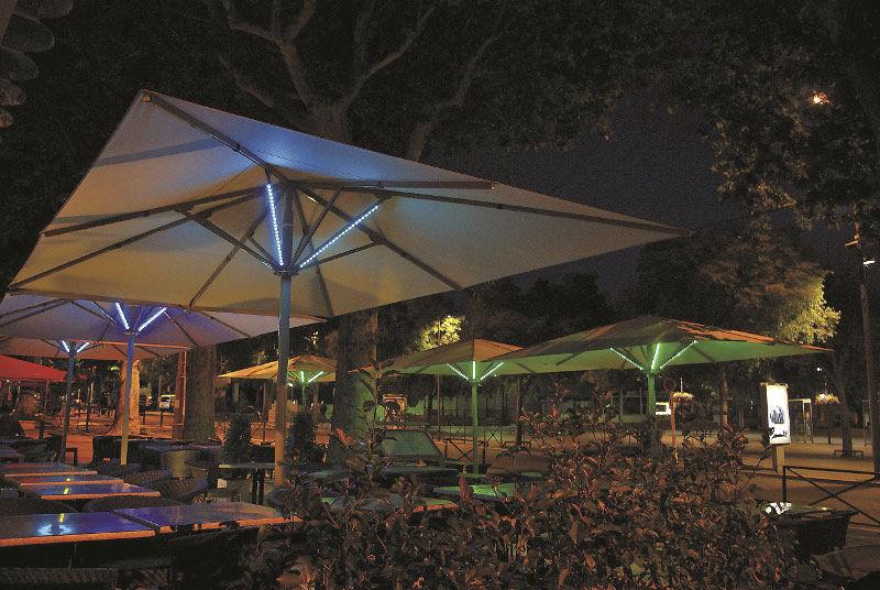 Illuminazione per ombrellone uhlmann