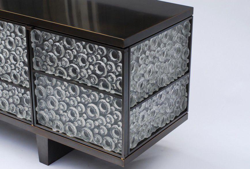 Credenza Moderna Vetro : Credenza moderna in vetro ottone adana atelier stefan leo