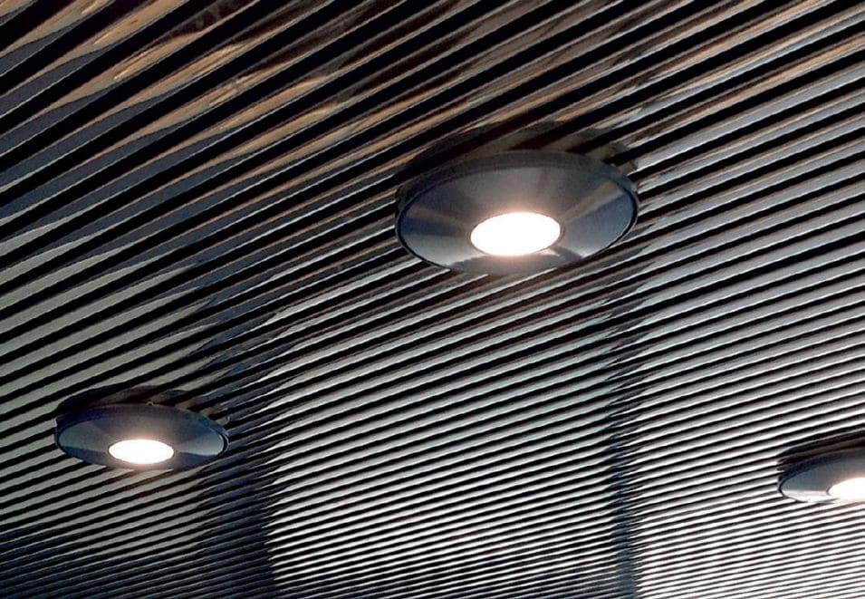 Plafoniera moderna tonda in alluminio led pf by e bona