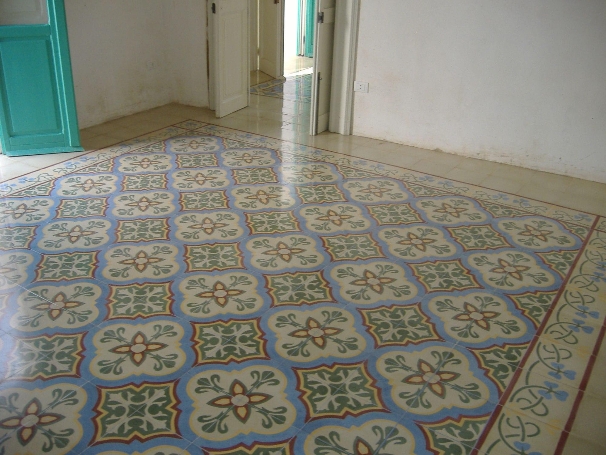 Piastrella in cemento encausto da interno da pavimento in