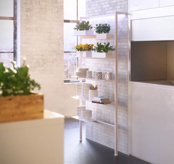Scaffale moderno / in alluminio / da bagno / per cucina - DAMA L ...