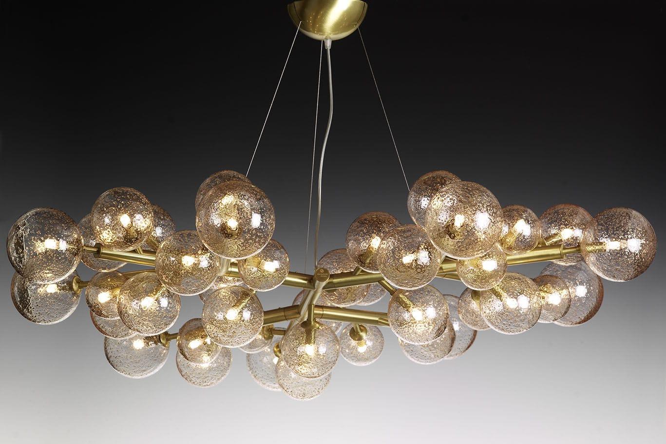 Lampadario design minimalista in vetro soffiato in vetro di