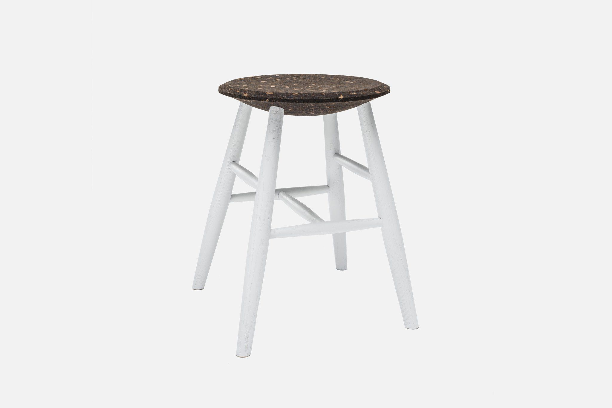 Sgabello design scandinavo in quercia in sughero drifted stool