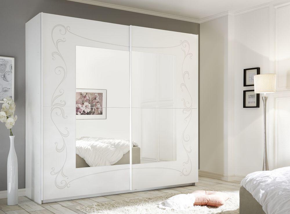 Credenza Con Porte Scorrevoli : Armadio classico in metallo con porta scorrevole a specchio