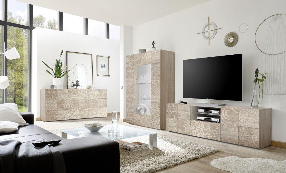 Mobile porta tv moderno in quercia miro lc spa