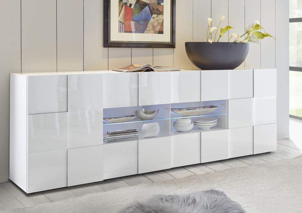 Credenza Moderna Palma : Credenza moderna in legno bianca dama lc spa