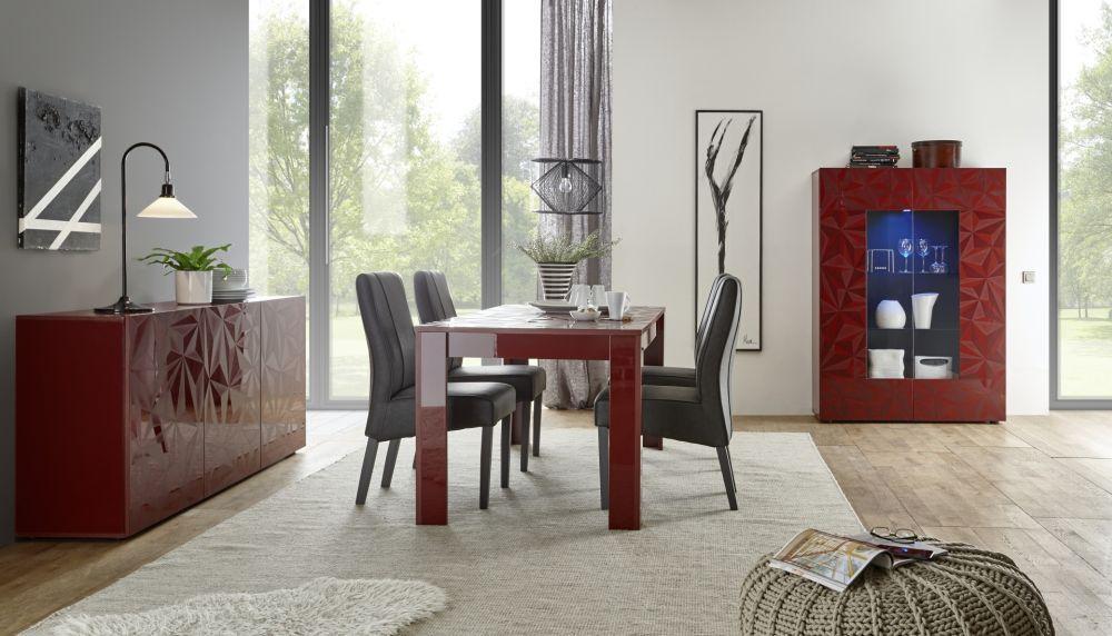 Credenza Moderna Con Alzata : Credenza con alzata moderna in legno laccato prisma lc spa