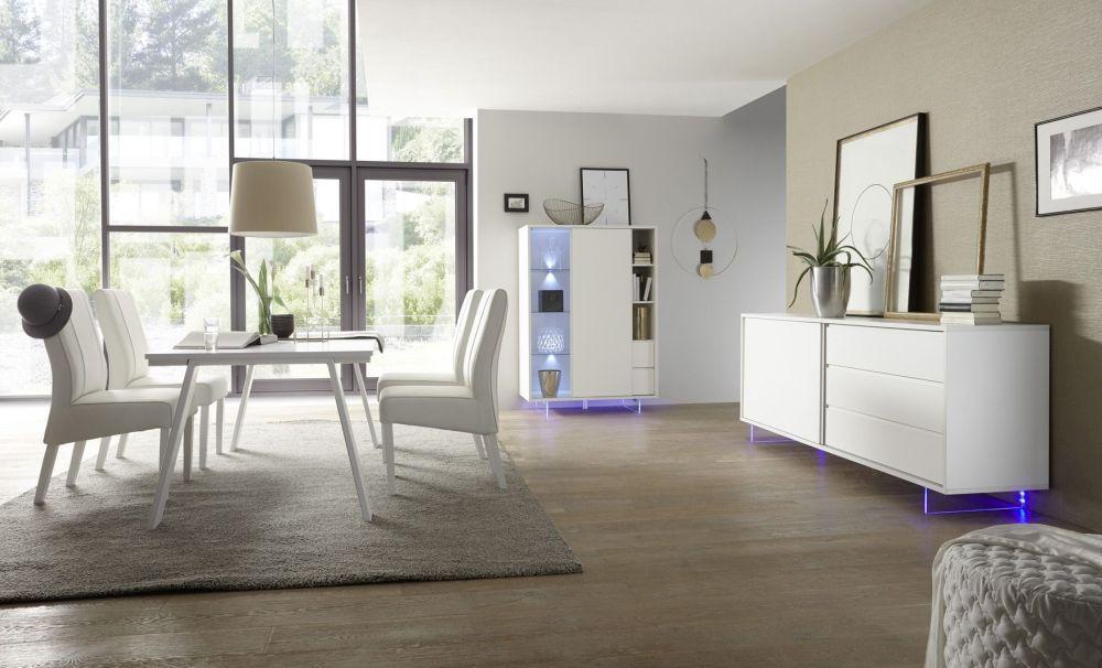 Credenza Moderna Bianca Alta : Credenza madia multiessenza in legno laccata bianca design moderno
