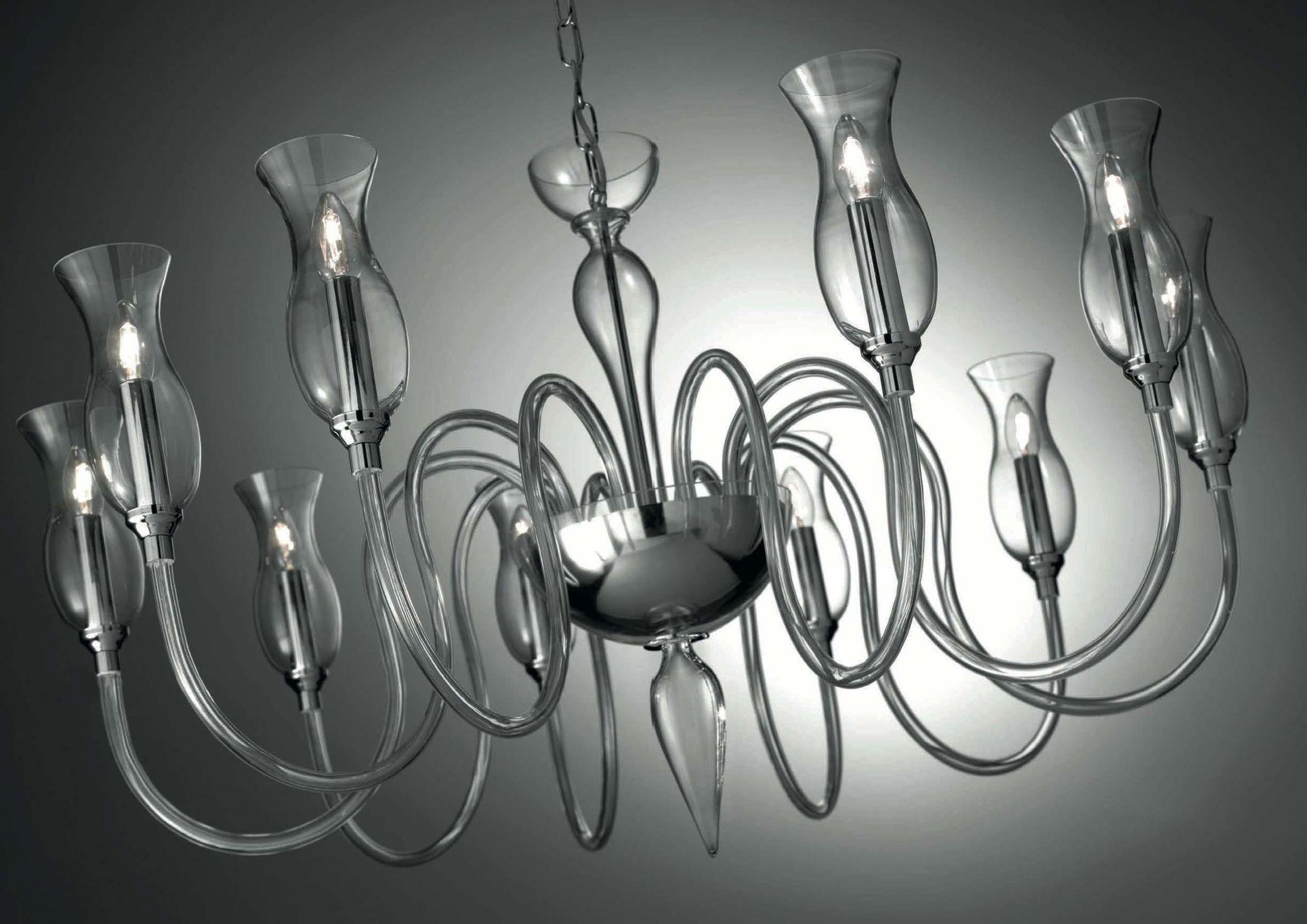Lampade In Vetro Di Murano Moderne : Lampadario classico in vetro soffiato in vetro di murano a