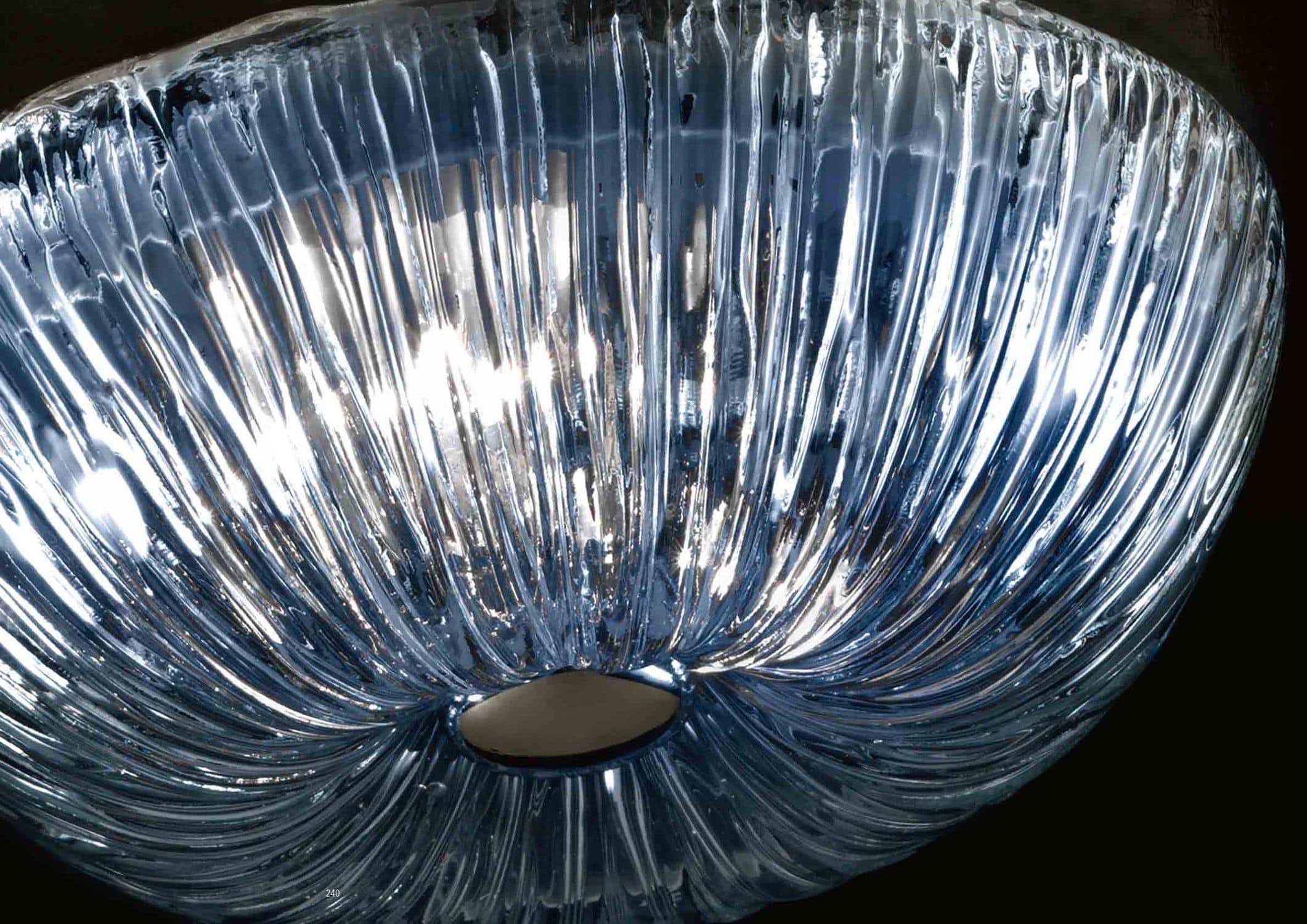 Plafoniera Moderna Vetro Murano : Plafoniera moderna in vetro di murano led a incandescenza