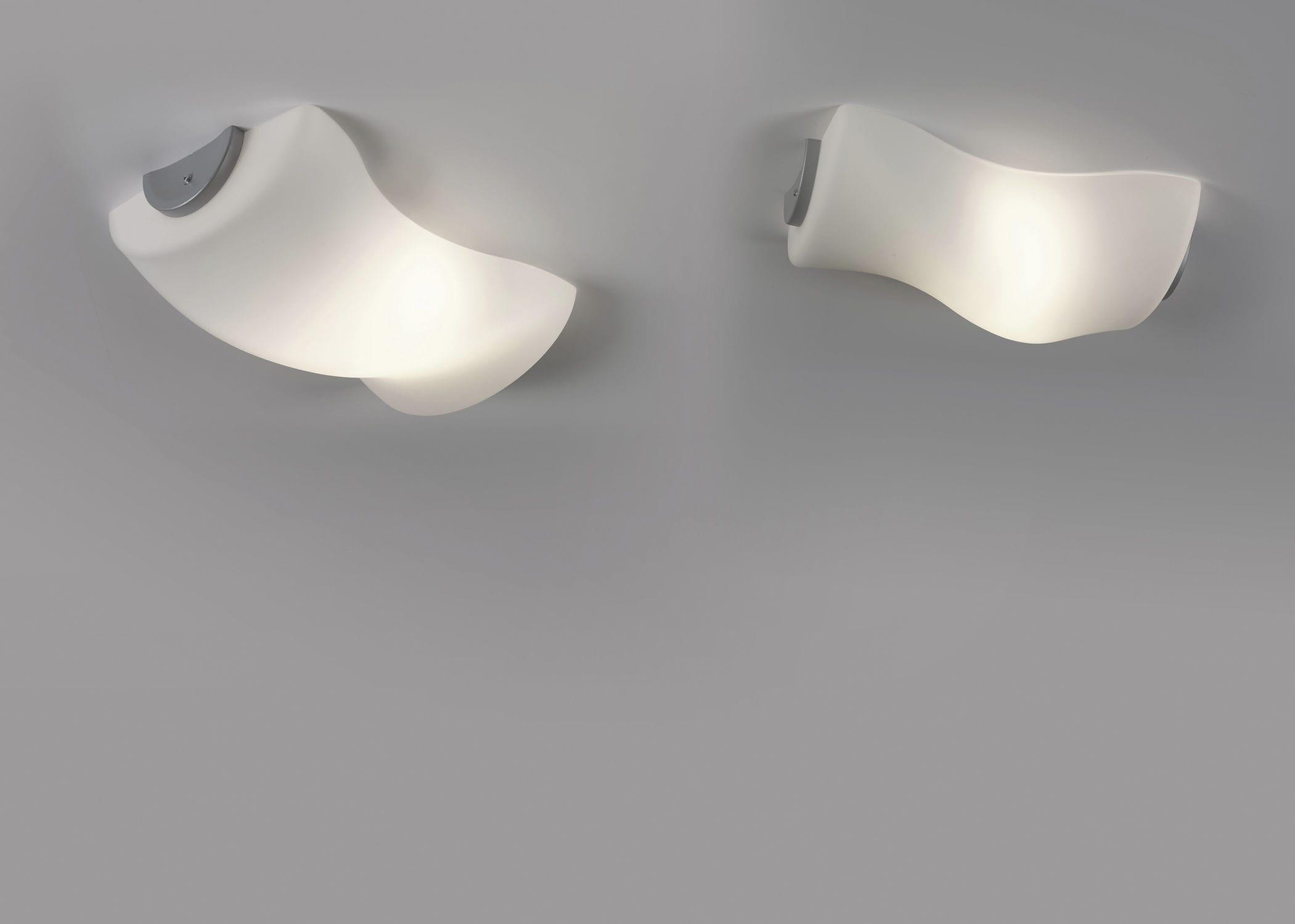 Plafoniere Da Interno : Plafoniera moderna in vetro soffiato alogena da interno