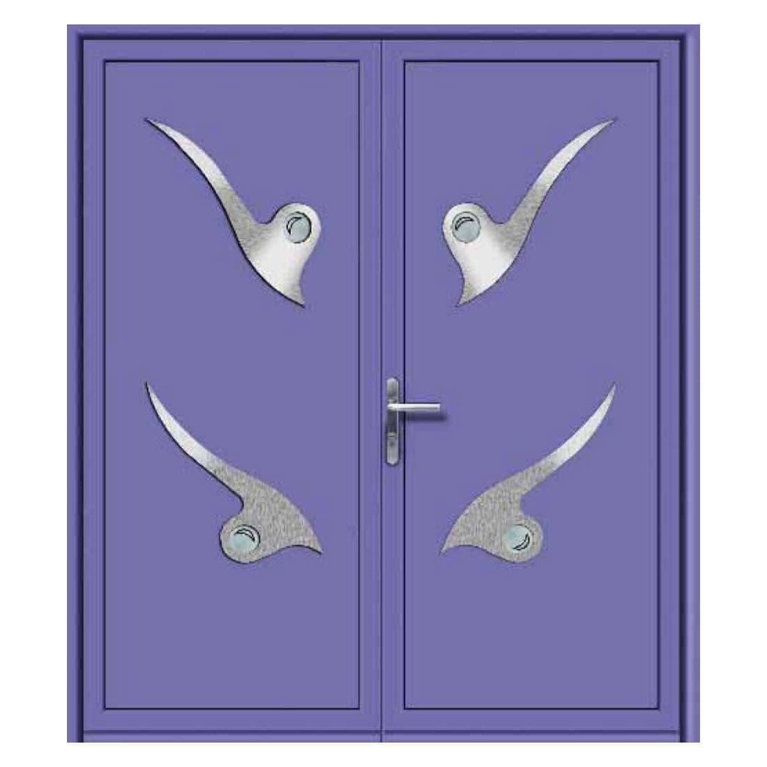 Porta D Ingresso Battente In Alluminio A Doppia Anta