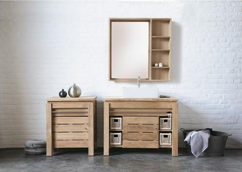 Mobile lavabo in legno / da appoggio / moderno / in kit   origin ...