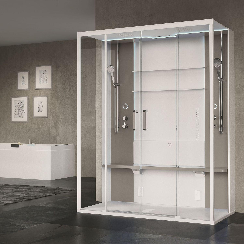 Box doccia multifunzione / a vapore / con idromassaggio / in vetro ...