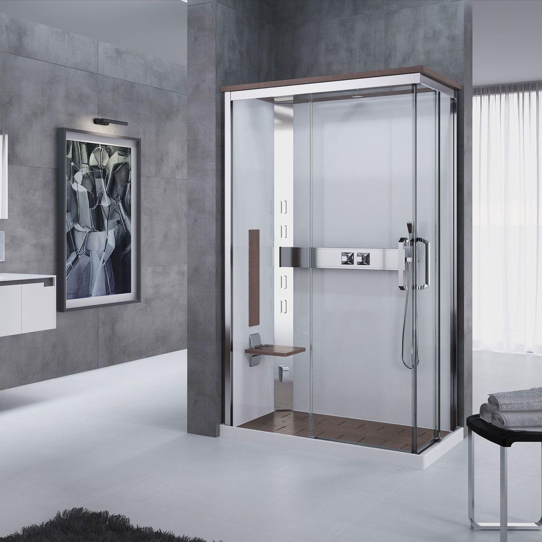 Box doccia con idromassaggio multifunzione in vetro d angolo