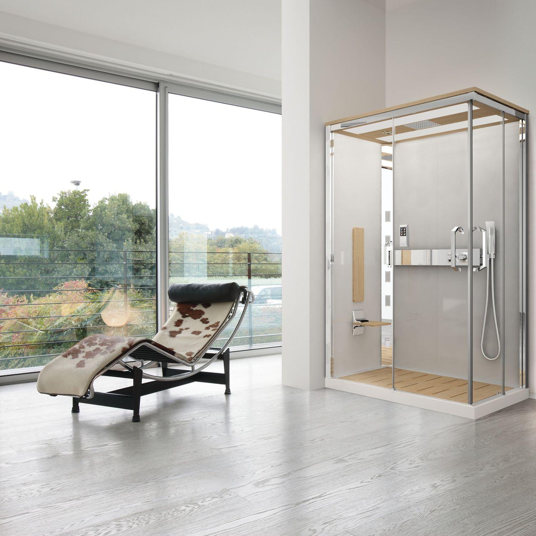 Box doccia idromassaggio / multifunzione / in vetro / per ...
