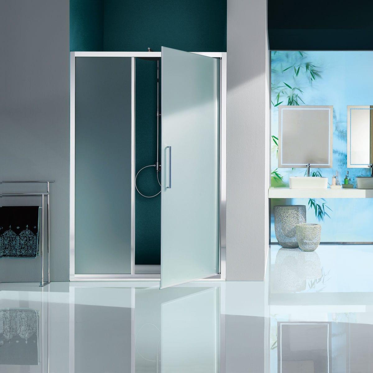 Parete doccia battente / a nicchia / in vetro - EUROPA: B7870 - SAMO