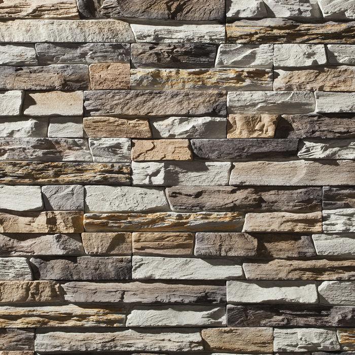 Lastra di paramento in pietra ricostituita / indoor / testurizzata ...