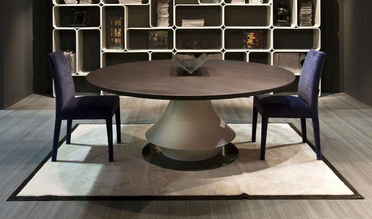 Tavolo rotondo moderno tavolo quadrato 8 posti - Epierre