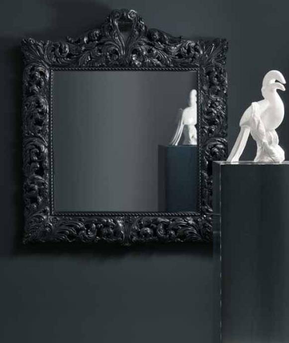 Specchio a muro / design nuovo barocco / quadrato / in legno ...