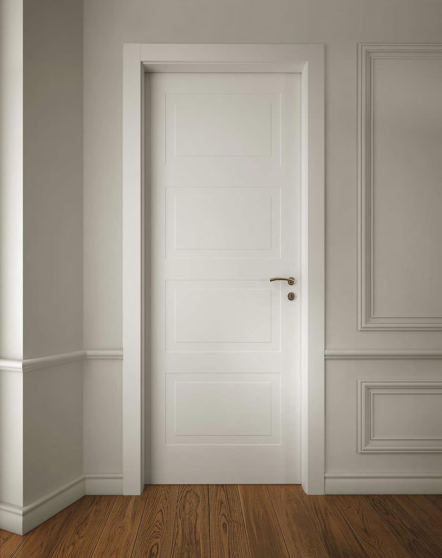 Porta da interni / battente / in legno - MIRAQUADRA - GAROFOLI