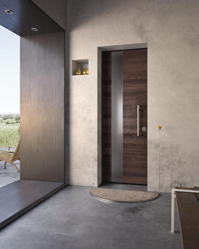 porta d'ingresso / battente / in legno / di sicurezza - sovrana ... - Porta Di Sicurezza In Acciaio