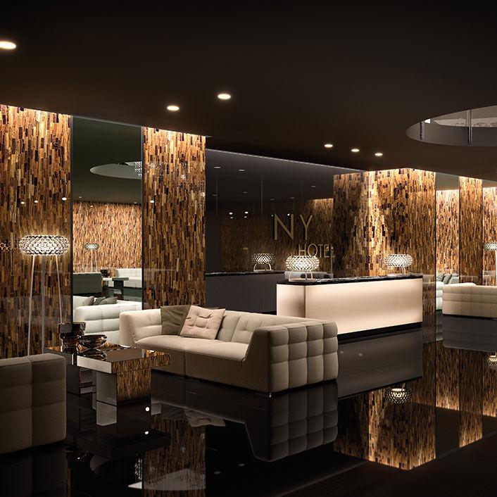 Pannello decorativo per arredamento di interni / da parete / in ...