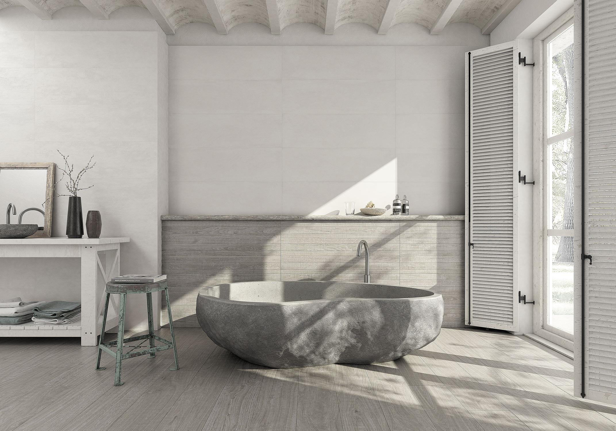 Piastrella per interni da parete in ceramica rettangolare