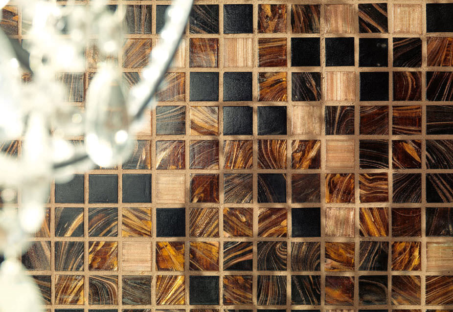 Piastrella aspetto mosaico da interno da parete per