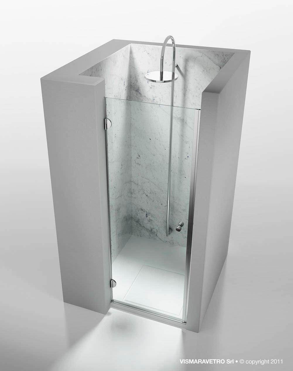 Box doccia in vetro / a nicchia / con porta a battente   sintesi ...