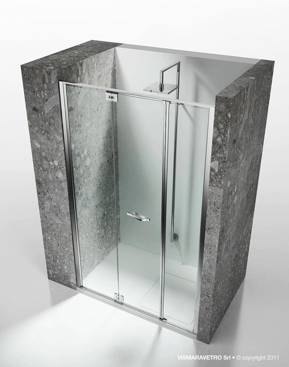 Box doccia in vetro / a nicchia / con porta pieghevole - REPLAY ...