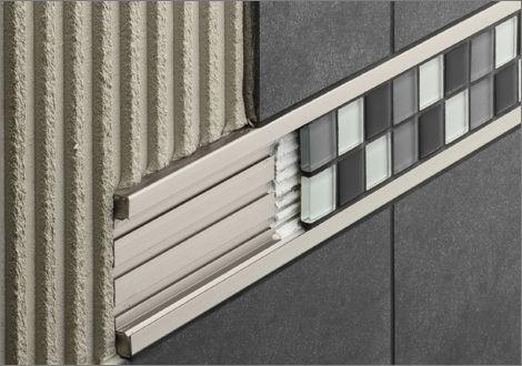 Profilo di separazione in alluminio per piastrelle schlüter