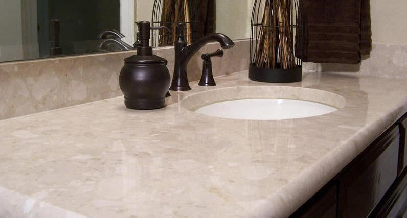 Piano di lavoro in marmo / da cucina - BOTTICINO - Santa Margherita