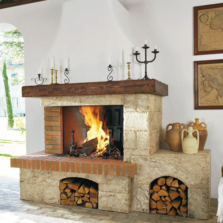 Rivestimento per camini classico / in pietra / in legno - ORVIETO ...