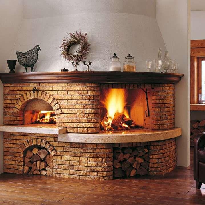 Rivestimento per camini classico / in pietra / in legno / con forno ...