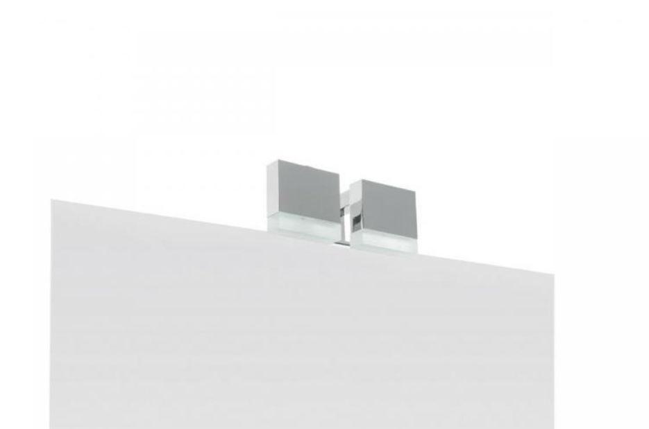 Applique moderna da bagno in metallo quadrata eos oasis