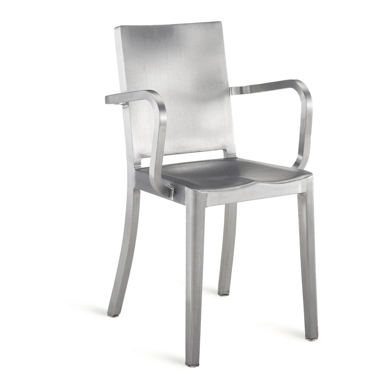 Sedia moderna / con braccioli / in alluminio / di Philippe Starck ...