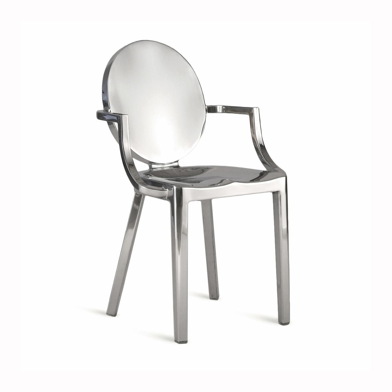 Sedia moderna / a medaglione / in alluminio / di Philippe Starck ...