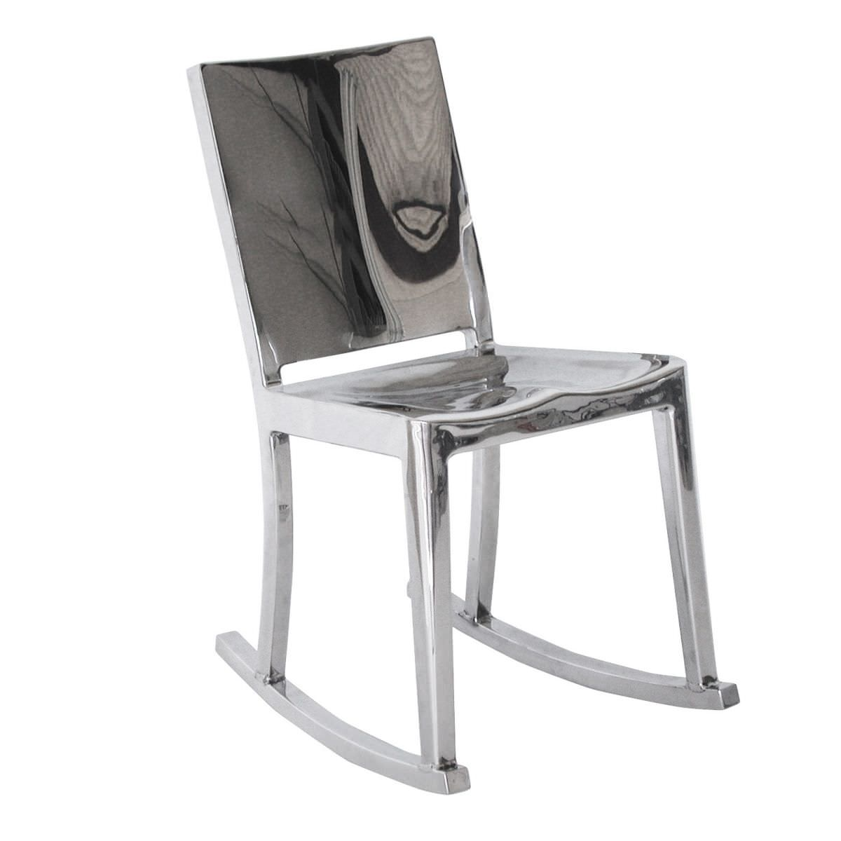 Sedia moderna / a bascula / in alluminio / di Philippe Starck ...