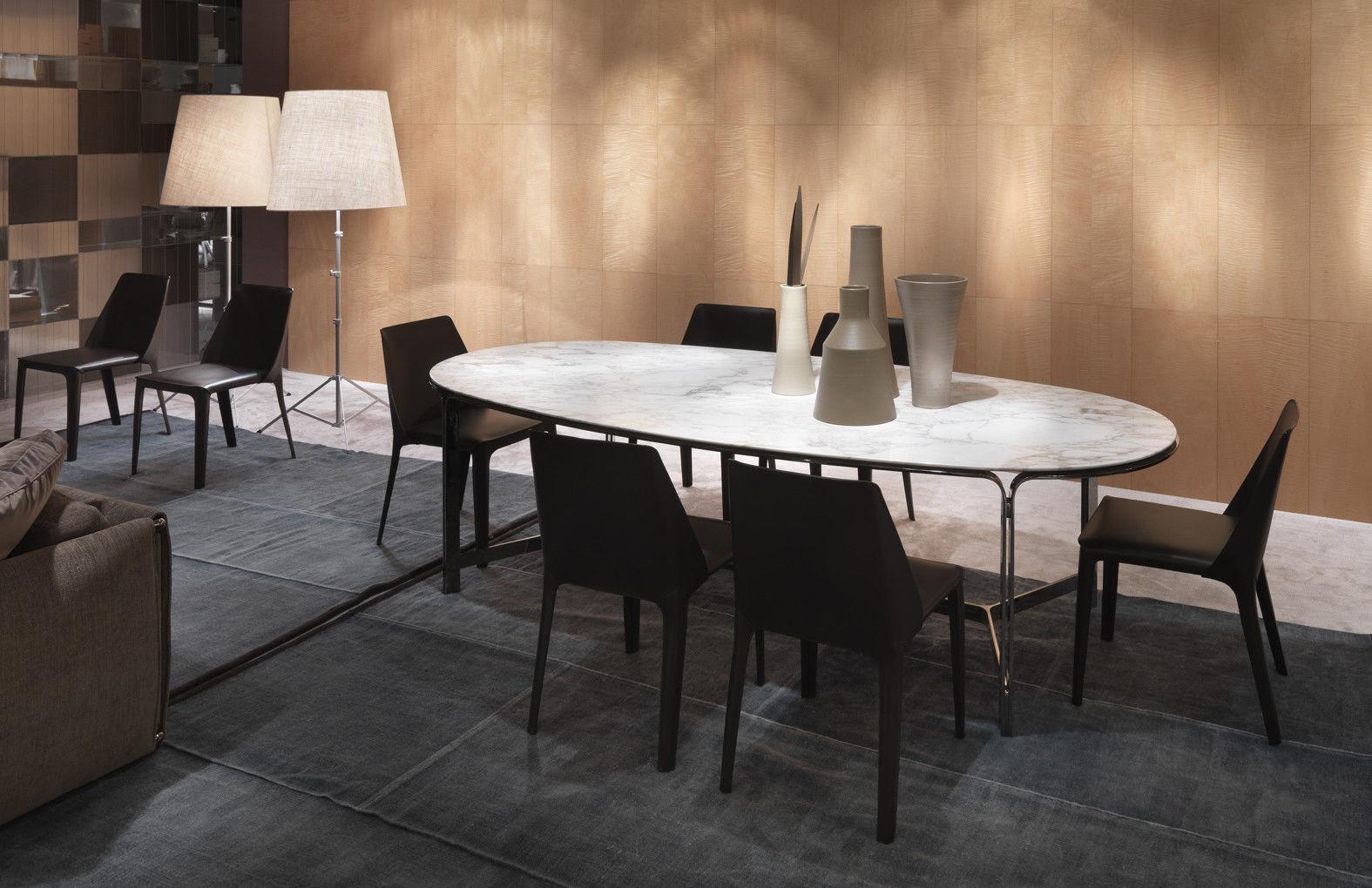 Tavolo da pranzo moderno in metallo in marmo ovale clarke
