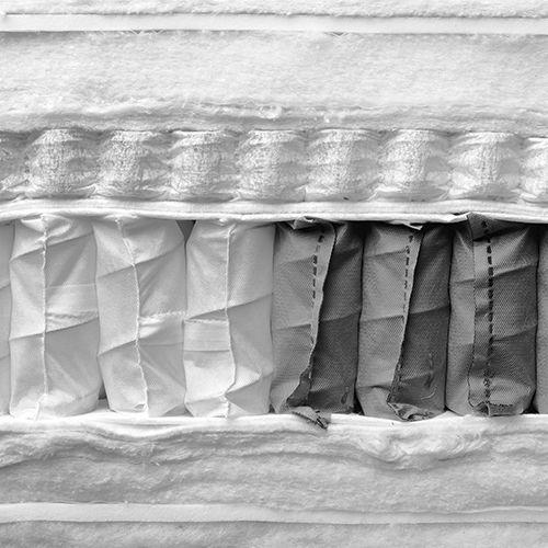 Materasso doppio / a molle insacchettate / in lattice / 140x200 cm ...