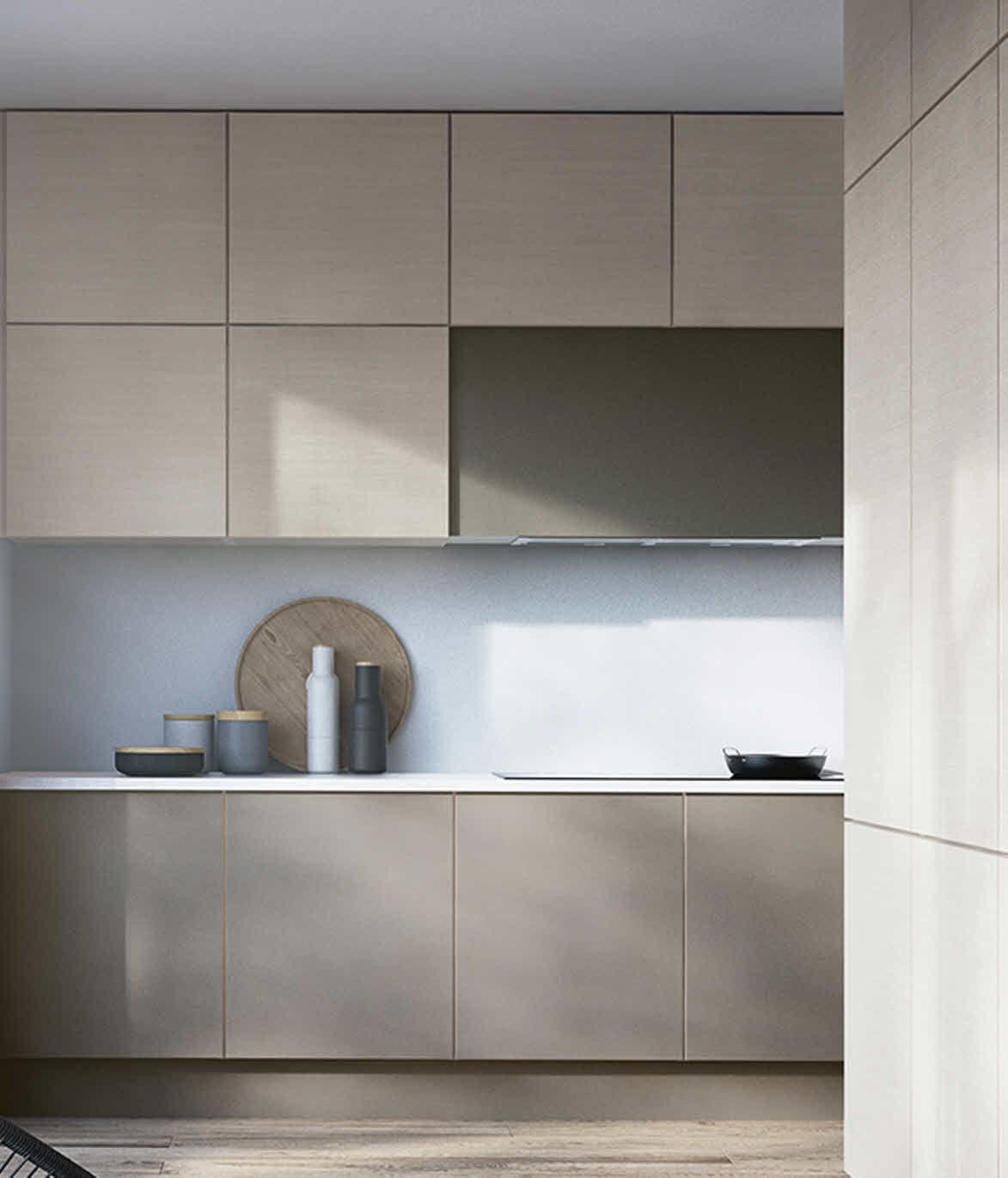 Cucina moderna / in laminato / in frassino / senza maniglie - ATHENA ...